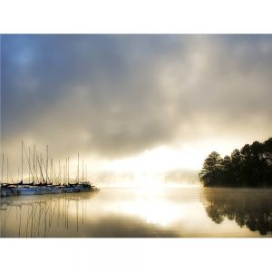 SG1568 breaking through I boats fishing lough river landscape reflection water photography