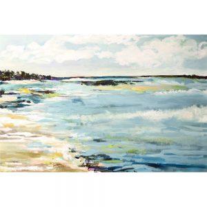 SG1585 beach surf III abstract sea ocean beach seaside landscape paint