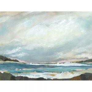 SG1603 seaside view iii abstract sea ocean beach landscape paint