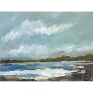 SG1604 seaside view iv abstract sea ocean beach landscape paint