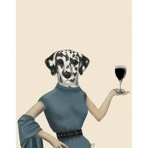 SG1630 dalmatian wine snob dog quirky whimsical