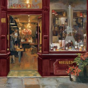 SG1684 global shop front cafe retail building town window france french paint painting