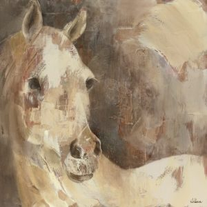 SG1700 global contemporary horse neutral white painting paint portrait