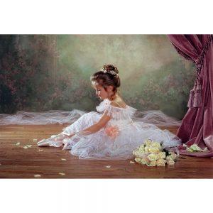 SG1745 ballerina ballet dancer child tutu scene roses ballerina