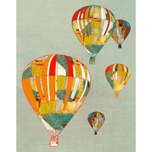 SG1752 hot air balloon patchwork flying nursery kids bedroom