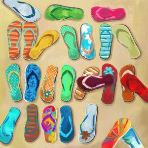 SG1757 flipflops sandals beach summer hot bight colourful