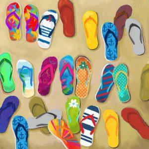 SG1758 flipflops sandals beach summer hot bight colourful