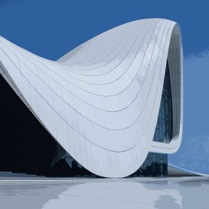 TM1169 modern architecture curved roof