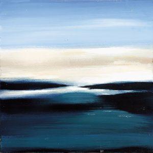 SG121 abstract sea ocean seacsapes beach water blue beige sky