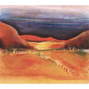 SG173 chalk illustration landscapes mountains horizon