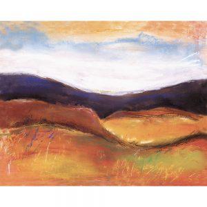 SG175 chalk illustration landscapes mountains horizon
