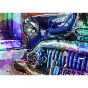 SG1837 vw volkswagen beetle bug car cars vibrant sketch illustration abstract watercolour painting colour splash