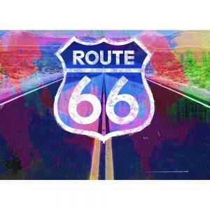 SG1850 sign route 66 road graphic colour vibrant splash illustration