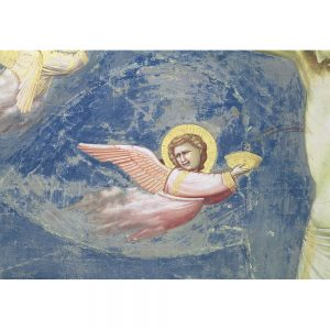 SG1913 halo angel wings fly art religious chapel italy