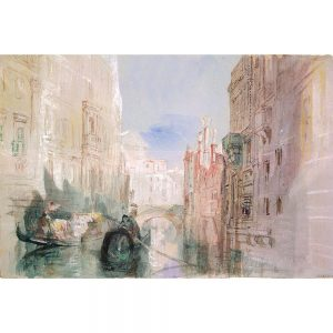 SG1930 venice italy boat canal boat illustration watercolour sketch river row boats