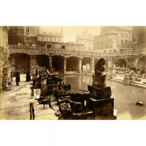 SG1931 ancient attraction baths classical architecture excavations ruins spa victorian roman bath