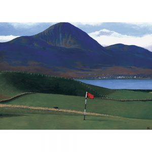 SG197 golf course trees landscapes figures lake mountains flag