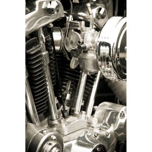 SG1980 chromed cylinders motorcycle engine