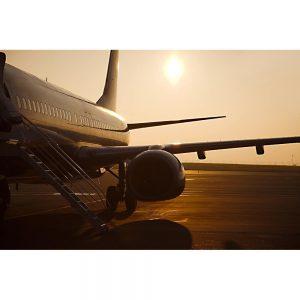 SG2041 airplane airport sunrise image