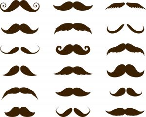 SG2157 mustaches silhouettes men