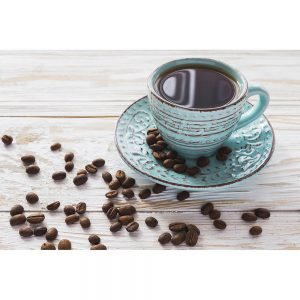 SG2174 cup coffee beans rustic wooden background