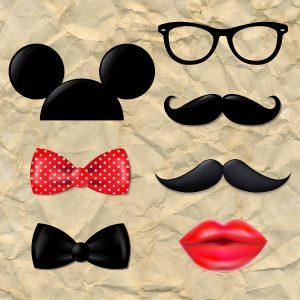 SG2180 fancy dress lips glasses moustache