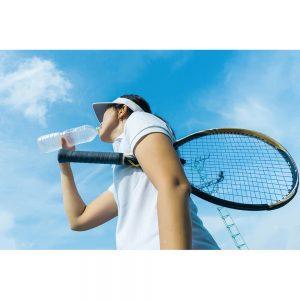 SG2235 female tennis player drinking water