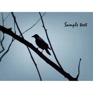 SG2302 bird silhouette branch tree