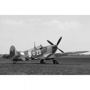 SG2331 british ww2 spitfire plane grass runway