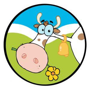 SG2418 cartoon cow head chewing flower