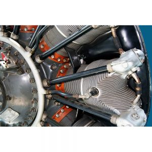 SG2474 radial engine airplane retro