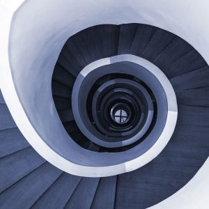 TM1253 architecture spiral staircase blue
