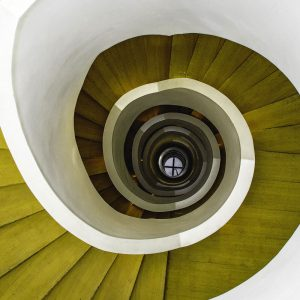 TM1254 architecture spiral staircase green
