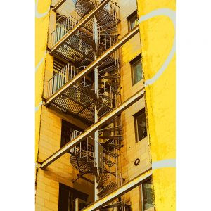 TM1281 architecture staircase yellow