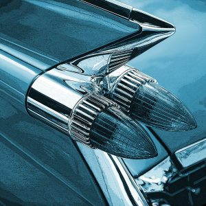 TM1317 automotive american cars rocket lights blue