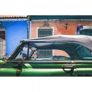 TM1361 automotive cuban cars convertible green