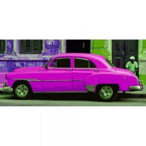 TM1366 automotive cuban cars pink