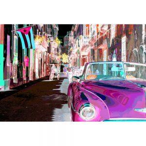 TM1371 automotive cuban cars invert pink