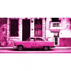 TM1376 automotive cuban cars street pink