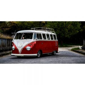 TM1418 automotive classic cars campervan red
