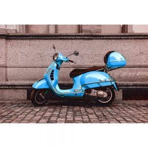 TM1464 automotive scooters vespa blue