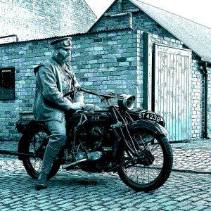 TM1508 automotive motorcycles ajs blues
