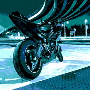 TM1521 automotive motorcycles racer blues