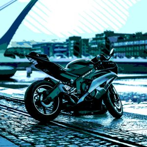 TM1525 automotive motorcycles racer blues