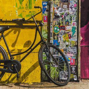 TM1560 bicycles vintage street yellow