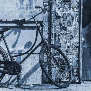 TM1563 bicycles vintage street blue