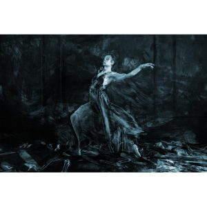 TM1703 ballet dancer painterly blue
