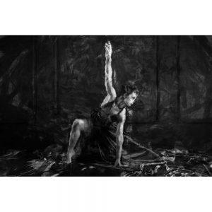 TM1705 ballet dancer painterly mono