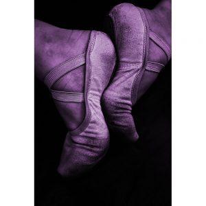 TM1718 ballet shoes violet