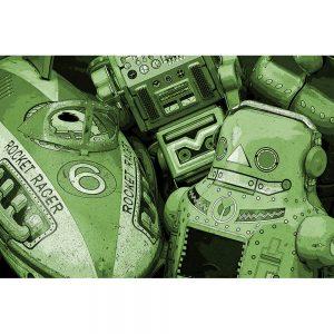 TM1754 retro metal toy collection green